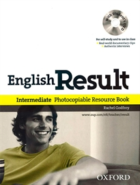 Books Frontpage English Result Intermediate. Photocopiable Resource Book & DVD PACK ED 10