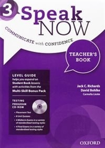 Books Frontpage Speak Now 3. Teacher's Book Pack