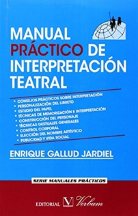 Portada del libro MANUAL PRACTICO DE INTERPRETACION TEATRAL