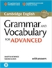 Portada del libro Grammar and Vocabulary for Advanced Book with Answers and Audio