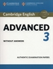 Portada del libro Cambridge English Advanced 3. Student's Book without answers