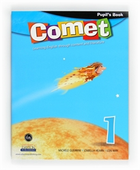 Books Frontpage Comet. 1 Primary. Pupil's book