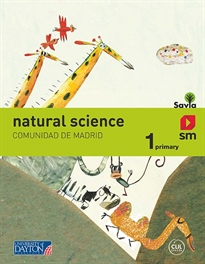 Books Frontpage Natural science. 1 Primary. Savia. Madrid.19