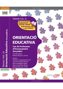 Books Frontpage Cos de Professors d'Ensenyament Secundari. Orientació Educativa. Temari Vol. III.