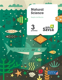 Portada del libro Natural science. 2 Primary. Más Savia. Murcia