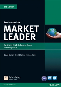 Books Frontpage Market Leader 3rd Edition Pre-Intermediate Coursebook with DVD-ROM andMy EnglishLab Student online access code Pack