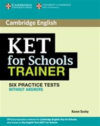 Books Frontpage KET for Schools Trainer Six Practice Tests without answers