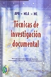 Front pageTécnicas de investigación documental