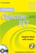 Portada del libro Objective PET Student's Book with answers with CD-ROM 2nd Edition