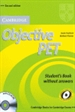 Portada del libro Objective PET Student's Book without Answers with CD-ROM 2nd Edition