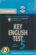 Portada del libro Cambridge Key English Test 5 Self Study Pack (Student's Book with answers and Audio CD)