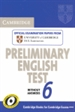 Portada del libro Cambridge Preliminary English Test 6 Student's Book without answers