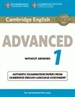 Portada del libro Cambridge English Advanced 1 for Revised Exam from 2015 Student's Book with Answers