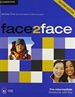 Portada del libro Face2face Pre-intermediate Workbook with Key 2nd Edition