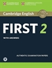 Portada del libro Cambridge English First 2 Student's Book with Answers and Audio