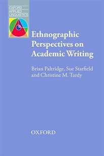 Portada del libro Writing in Academy Ethnographic Perspective