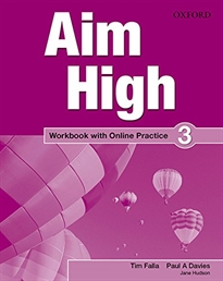 Books Frontpage Aim High 3. Workbook + Online Practice Pack