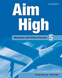 Portada del libro Aim High 5. Workbook + Online Practice Pack