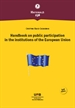 Portada del libro Handbook on public participation in the institutions of the European Union (3rd edition)