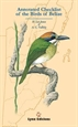 Portada del libro Annotated check list of the birds of Belize