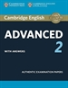 Portada del libro Cambridge certif. advanced 2 st whit key 15