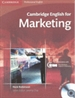 Portada del libro Cambridge English for Marketing Student's Book with Audio CD