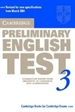 Portada del libro Cambridge Preliminary English Test 3 Student's Book 2nd Edition