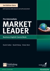 Books Frontpage Market Leader 3rd Edition Extra Pre-Intermediate Coursebook with DVD-ROMPack