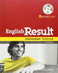 Books Frontpage English Result Intermediate. Workbook + multi-ROM Pack