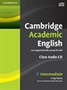 Portada del libro Cambridge Academic English B1+ Intermediate Class Audio CD