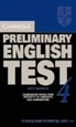 Portada del libro Cambridge Preliminary English Test 4 Student's Book with Answers