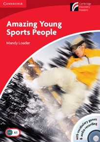 Books Frontpage Amazing Young Sports People Level 1 Beginner/Elementary Book with CD-ROM/Audio CD Pack