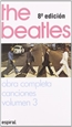 Portada del libro Canciones III de The Beatles