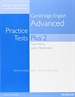 Portada del libro Cambridge Advanced Volume 2 Practice Tests Plus New Edition Students' Book without Key