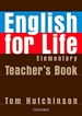 Portada del libro English for Life Elementary. Teacher's Book
