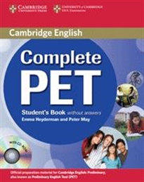 Books Frontpage Complete PET Student's Book without answers with CD-ROM