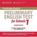 Portada del libro Cambridge Preliminary English Test for Schools 1 Audio CDs (2)