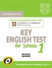 Portada del libro Cambridge Key English Test for Schools 1 Student's Book without answers