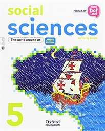 Books Frontpage Think Do Learn Social Sciences 5th Primary. Activity book Module 3 Amber