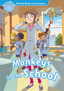Books Frontpage Oxford Read and Imagine 1. Monkeys in School MP3 Pack