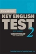 Portada del libro Cambridge Key English Test 2 Student's Book with Answers 2nd Edition