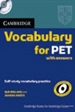 Portada del libro Cambridge Vocabulary for PET with Answers and Audio CD