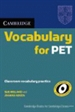 Portada del libro Cambridge Vocabulary for PET Edition without answers