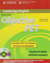 Books Frontpage Objective PET For Schools Pack without Answers (Student's Book with CD-ROM and for Schools Practice Test Booklet) 2nd Edition