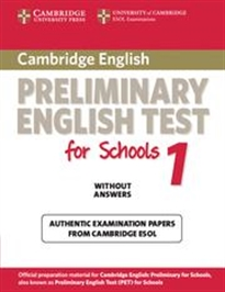 Books Frontpage Cambridge Preliminary English Test for Schools 1 Student's Book without Answers