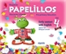 Portada del libro Papelillos Pre-Primary Education. Early contact with English. Age 4. Edition for bilingual schools
