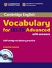 Portada del libro Cambridge Vocabulary for IELTS Advanced Band 6.5+ with Answers and Audio CD