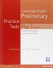 Portada del libro Practice Tests Plus PET 3 with Key and Multi-ROM/Audio CD Pack