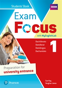 Books Frontpage Exam Focus 1 Student's Book with MyEnglishLab