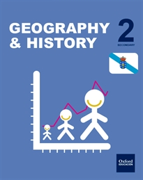 Books Frontpage Inicia Geography & History. 2.º ESO. Student's book. Galicia